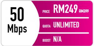 Time fibre internet promotion - 50mbps