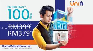 Unifi package 100Mbps Biz Pro Plan promotion