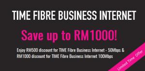 TIME Fibre Business Internet promotion