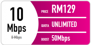 Time fibre internet promotion - 10mbps
