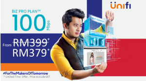 Unifi package 100Mbps Biz Pro Plan promotion