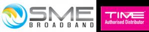 sme fibre logo with time broadband