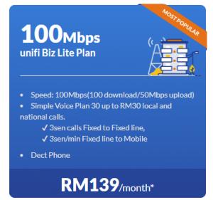 unifi Biz Lite Plan 100Mbps promotion